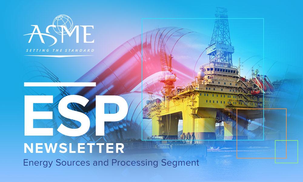 Energy Sources and Processing Segment Newsletter eBlast header