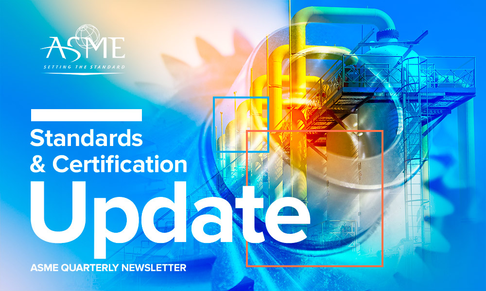 Standards & Certification Update newsletter header
