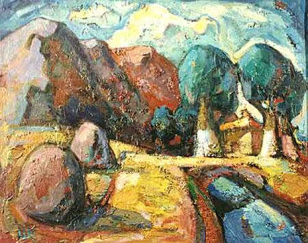 Landscape with Boulders