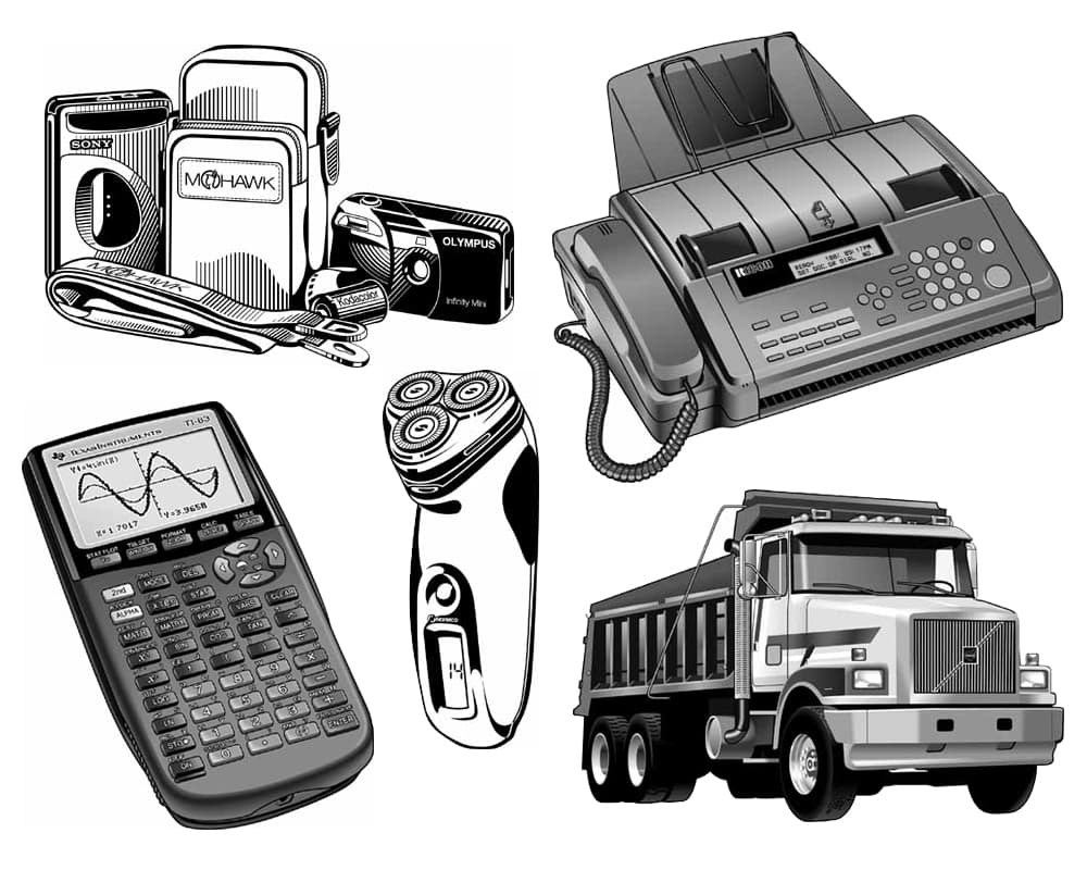 Product manuals Illustrations